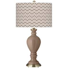 Mocha Narrow Zig Zag Civitia Table Lamp