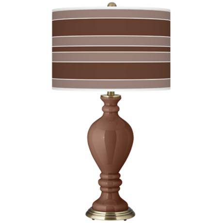 Rugged Brown Bold Stripe Civitia Table Lamp