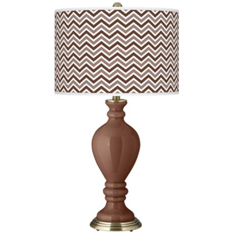 Rugged Brown Narrow Zig Zag Civitia Table Lamp