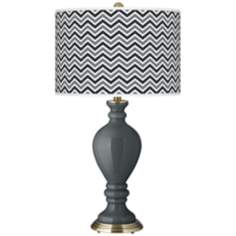 Black of Night Narrow Zig Zag Civitia Table Lamp