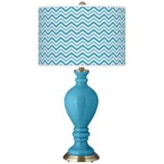 Jamaica Bay Narrow Zig Zag Civitia Table Lamp