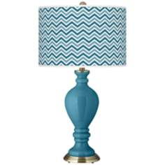 Great Falls Narrow Zig Zag Civitia Table Lamp
