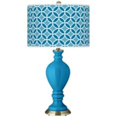 River Blue Circle Rings Civitia Table Lamp