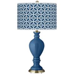 Regatta Blue Circle Rings Civitia Table Lamp