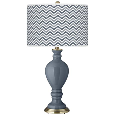 Granite Peak Narrow Zig Zag Civitia Table Lamp