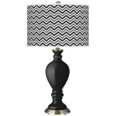 Tricorn Black Narrow Zig Zag Civitia Table Lamp