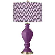 Kimono Violet Narrow Zig Zag Civitia Table Lamp