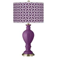 Kimono Violet Circle Rings Civitia Table Lamp