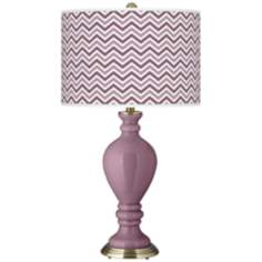 Plum Dandy Narrow Zig Zag Civitia Table Lamp