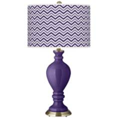 Izmir Purple Narrow Zig Zag Civitia Table Lamp