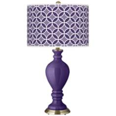 Izmir Purple Circle Rings Civitia Table Lamp
