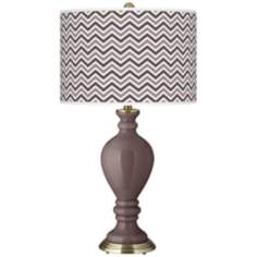 Deepest Mauve Narrow Zig Zag Civitia Table Lamp