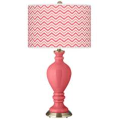Rose Narrow Zig Zag Civitia Table Lamp