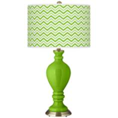 Neon Green Narrow Zig Zag Civitia Table Lamp