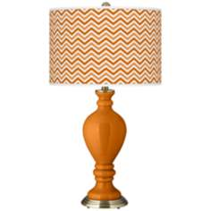 Cinnamon Spice Narrow Zig Zag Civitia Table Lamp