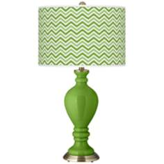 Rosemary Green Narrow Zig Zag Civitia Table Lamp