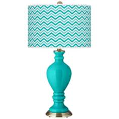 Turquoise Narrow Zig Zag Civitia Table Lamp
