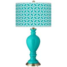 Turquoise Circle Rings Civitia Table Lamp