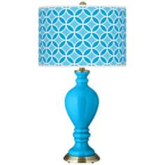 Sky Blue Circle Rings Civitia Table Lamp