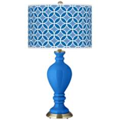 Royal Blue Circle Rings Civitia Table Lamp