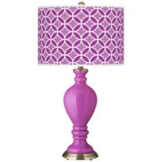 Peony Purple Circle Rings Civitia Table Lamp