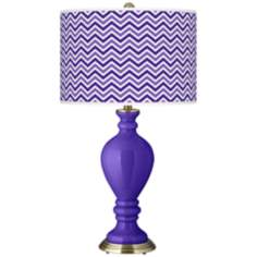 Violet Narrow Zig Zag Civitia Table Lamp