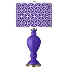 Violet Circle Rings Civitia Table Lamp