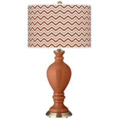 Fawn Brown Narrow Zig Zag Civitia Table Lamp