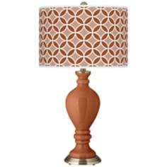 Fawn Brown Circle Rings Civitia Table Lamp