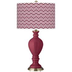 Dark Plum Narrow Zig Zag Civitia Table Lamp