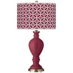 Dark Plum Circle Rings Civitia Table Lamp