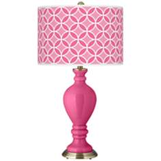 Blossom Pink Circle Rings Civitia Table Lamp