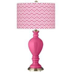 Blossom Pink Narrow Zig Zag Civitia Table Lamp