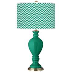 Emerald Narrow Zig Zag Civitia Table Lamp