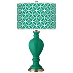 Emerald Circle Rings Civitia Table Lamp