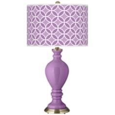 African Violet Circle Rings Civitia Table Lamp