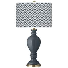 Outer Space Narrow Zig Zag Civitia Table Lamp