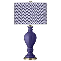 Valiant Violet Narrow Zig Zag Civitia Table Lamp