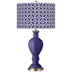 Valiant Violet Circle Rings Civitia Table Lamp