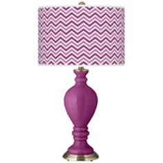 Verve Violet Narrow Zig Zag Civitia Table Lamp
