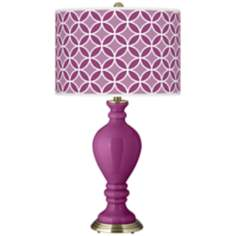 Verve Violet Circle Rings Civitia Table Lamp