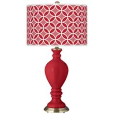 Ribbon Red Circle Rings Civitia Table Lamp