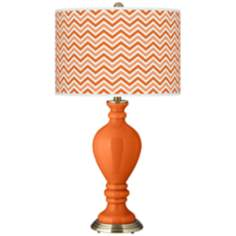 Invigorate Narrow Zig Zag Civitia Table Lamp