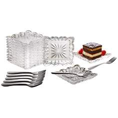 Alexandria Collection 25-Piece Crystal Taster Plate Set