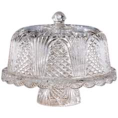 Wellington Collection Crystal Cake Plate with Dome