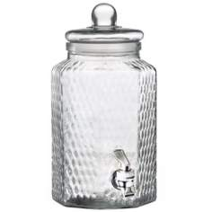 Hampton 4.2 liter Square Glass Beverage Dispenser