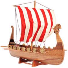 Drakkar Viking Long Boat Model