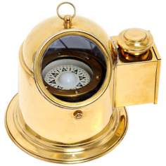 Solid Brass Binnacle Compass