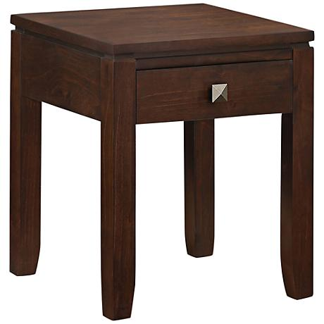 Cosmopolitan Dark Wood End Table