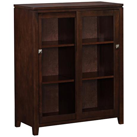 Cosmopolitan Coffee Brown Wood Medium Storage Cabinet
